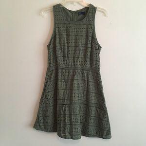 Gap Olive Army Green eyelet dress 8